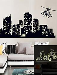 murali Stickers adesivi murali, wall stickers città fluorescenza pvc