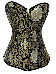 shapewear corsets bouton polyester noir lingerie sexy de shaper