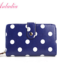 Anladia Ladies Girls Polka Dot Oilcloth Wallet Short Wristlet Coin Purse Handbag