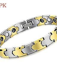 OPK®Brazil Black Gallstone Anti-fatigue Anti-radiation Magnetic Therapy Health Beautiful Tungsten Steel Bracelet