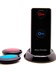 2 Ways Advanced Wireless Key Finder Locator Anti-lost with 2 Receivers, Torch Function and Dock Base