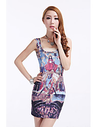 Women's Restoring Ancient Way The Embroidery Painting Dress