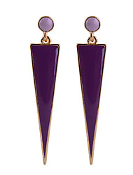 2015 Women's Fashion Party Long Triangle Glod-Plated Pendant Earrings