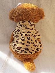 Perros Camiseta Amarillo Invierno Animal Leopardo