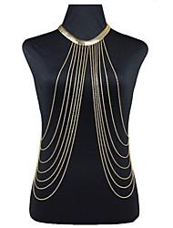 Women's Gold Sexy Cross Body Belly Chain for Bikini Holiday