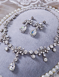 Conjunto de jóias Strass Liga/Strass Mulheres