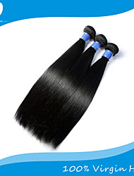 "3Pcs/Lot Indian Virgin Hair 100% Indian Remy Hair Straight  8""-30""Human Hair Extensions Natural Color"