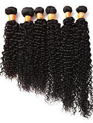 """extensión brasileña del pelo de color natural virgen 8 """"-30"""" 100% la armadura del pelo humano jerry 1pc rizo menor / porción pelo"""
