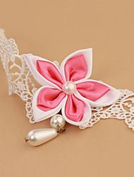 Women Fashion Body Jewelry Korea Style Charm Vintage Lace Bauhinia Flower Anklets