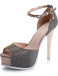 Women's Shoes Customized Materials Stiletto Heel Peep Toe Sandals Party & Evening/Dress/Casual Gold