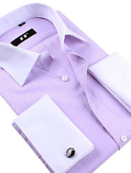 Get Cufflinks for Free! Mens Luxury French Dress Shirt / Tuxedo Shirts men's formal wear S-5XL