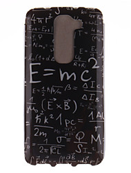 For LG Case Pattern Case Back Cover Case Word / Phrase Soft TPU LG