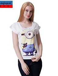 Druckt-shirt Art und Weise dünnen Pullover T-Shirt bodycon cmfc®women Allgleiche Stil Oberbekleidung