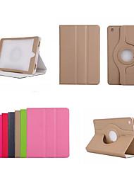 7.9 Zoll 360 Grad-Drehung Normallackmuster PU-Lederetui mit Ständer für iPad mini 1/2/3 (verschiedene Farben)