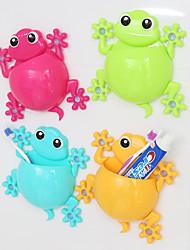 4PCS Creative Gecko Toothbrush Holder Random Color