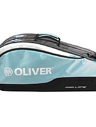 azul / pro línea naranja bolsa de la raqueta de bádminton de ocio mochila multifunción