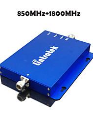 lintratek CDMA 850mhz + dcs 1800mhz doble banda de la señal celular de refuerzo repetidor gsm 850 1800 señal sinal repetidor celular