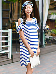 Women's Casual/Cute/Plus Sizes Micro-elastic Short Sleeve Maternity Dress (Cotton)