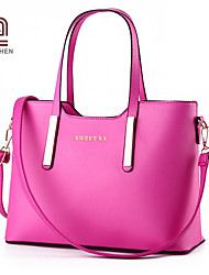 Handcee® Fashion Simple Style Woman PU Leather Cheap Tote Bag