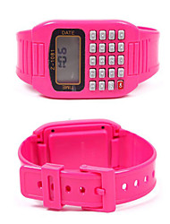 Electronic Calculator Wrist Watch Cute Children Silicone Watch Random Color