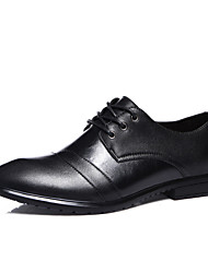 Men's Shoes Wedding/Casual Leather Oxfords Black/Brown
