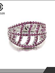 New Style Zircon Ring Plating Platinum