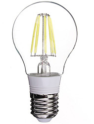 Lampes LED à Filament Blanc Froid 1 pièce E26/E27 6 W 6 LED Haute Puissance 480 LM AC 85-265 V