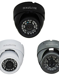 HOSAFE™ 1.0 Megapixel HD Security Dome IP Network Camera (24-LED IR Night Vision, Indoor or Outdoor)
