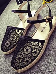 Women's Shoes Flat Heel Round Toe Sandals Dress Black/White/Beige