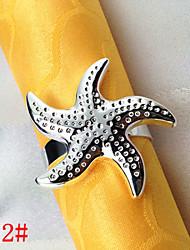 6Pcs Starfish Napkin Ring