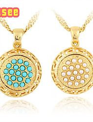 Fashion Classical 18K Golden Plated with Pearl Pendant Jewelry
