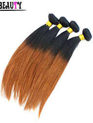 "4Pcs/Lot 10""-26"" Ombre Human Hair Extensions T1B/30 Peruvian Virgin Hair Straight Rosa Hair Products Cheap Hair Bundles"