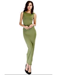 Vestidos e Saias ( Preto/Verde/Vermelho/Amarelo , Elastano/Poliéster/Seda tecida com Cetim , Roupas de Balada ) - de Roupas de Balada -