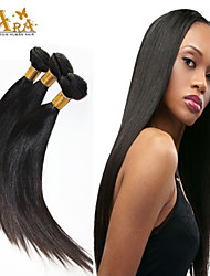 3pcs mucho brasileña virginal del pelo 8-30inches recta extensiones de cabello humano natural del pelo negro teje