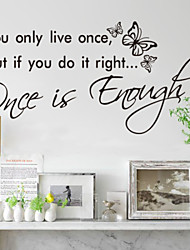 You Only Live Once Home Decoration  Wall Decals Zooyoo8144 Decorative Removable Vinyl Wall Stickers