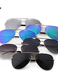 Sunglasses Unisex's Retro/Vintage / Aviator Oval Multi-Color Sunglasses Full-Rim