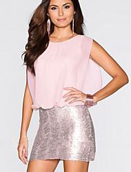 Women's  Chiffon Bodycon Sleeveless Sequins Mini Dress