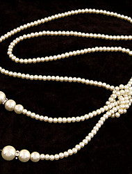 New Arrival Fashional Hot Selling Rhinestone Long Pearl Necklace
