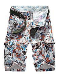Hommes Grandes Tailles Droite Mince Chino Short Pantalon,Vintage Street Chic Actif Décontracté / Quotidien Plage SportifImprimé
