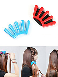 Outil bricolage stylisme de mode tresses de cheveux tresser les cheveux de style (couleur aléatoire)