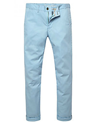 U-Shark Men's  Business Casual  &Fashion Cotton Thin Pants/Tousers Lake Blue Color