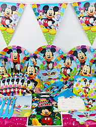 78pcs Mickey Mouse Movie Baby Birthday Party Decorations Kids Evnent Party Supplies Party Decoration