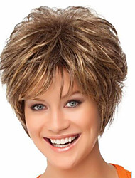 Snthetic Wig Europe and The United States Blonde Hair  High Quality Fashion HighTemperature Synthetic Hair Silk Short Hair Wigs