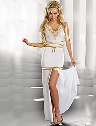Costumes de Cosplay Costume de Soirée Princesse Conte de Fée Fête / Célébration Déguisement d'Halloween Blanc Couleur Pleine Robe Manche