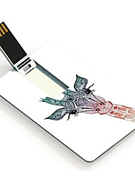 32GB Lovely Giraffe Design Pattern Card USB Flash Drive