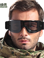 FreeSoldier Anti-UV Anti-Sand Cycling Glasses with PC Len(Black ,3 Lens)