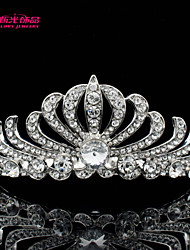 Neoglory Jewelry Clear Austrian Rhinestone Flower Tiara Crown Hair Accessories for Little Girl Wedding Pageant
