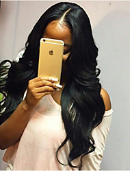 In Stock,Full Lace Wig 100% Brazilian Human Hair Wig Wavy 14-28inch Natural Color Virgin Hair