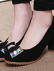 Pumps/Heels - Scarpe da donna - Tacco spesso - Tacco spesso DI Gomma - Nero
