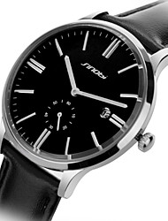 SINOBI  Watch Men's Leather Quartz Wrist Watch